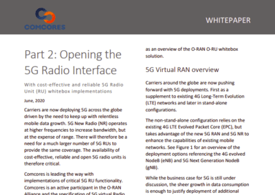 Opening the 5G virtual Radio Interface Whitepaper part 2